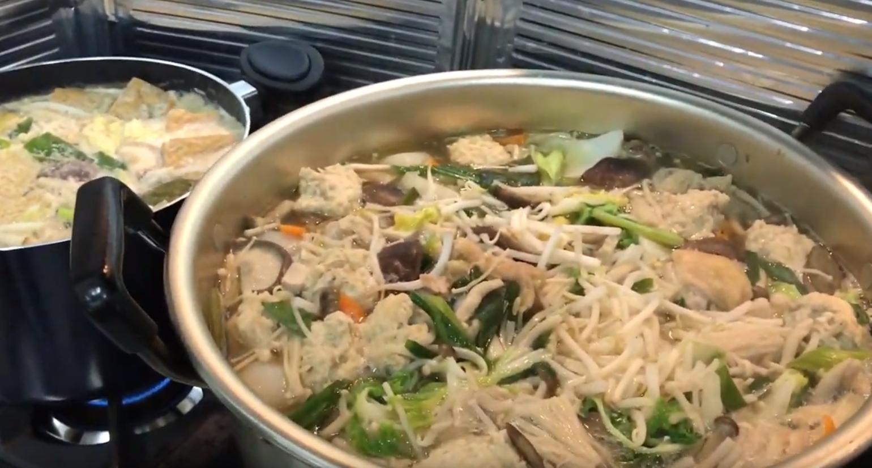 菜食鍋とちゃんこ風鍋
